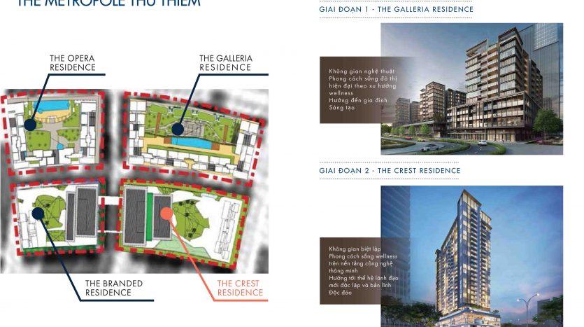 Mặt bằng tổng thể dự án the metropole thủ thiêm