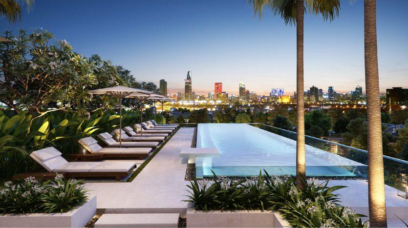 hồ bơi serenity sky villa quận 3