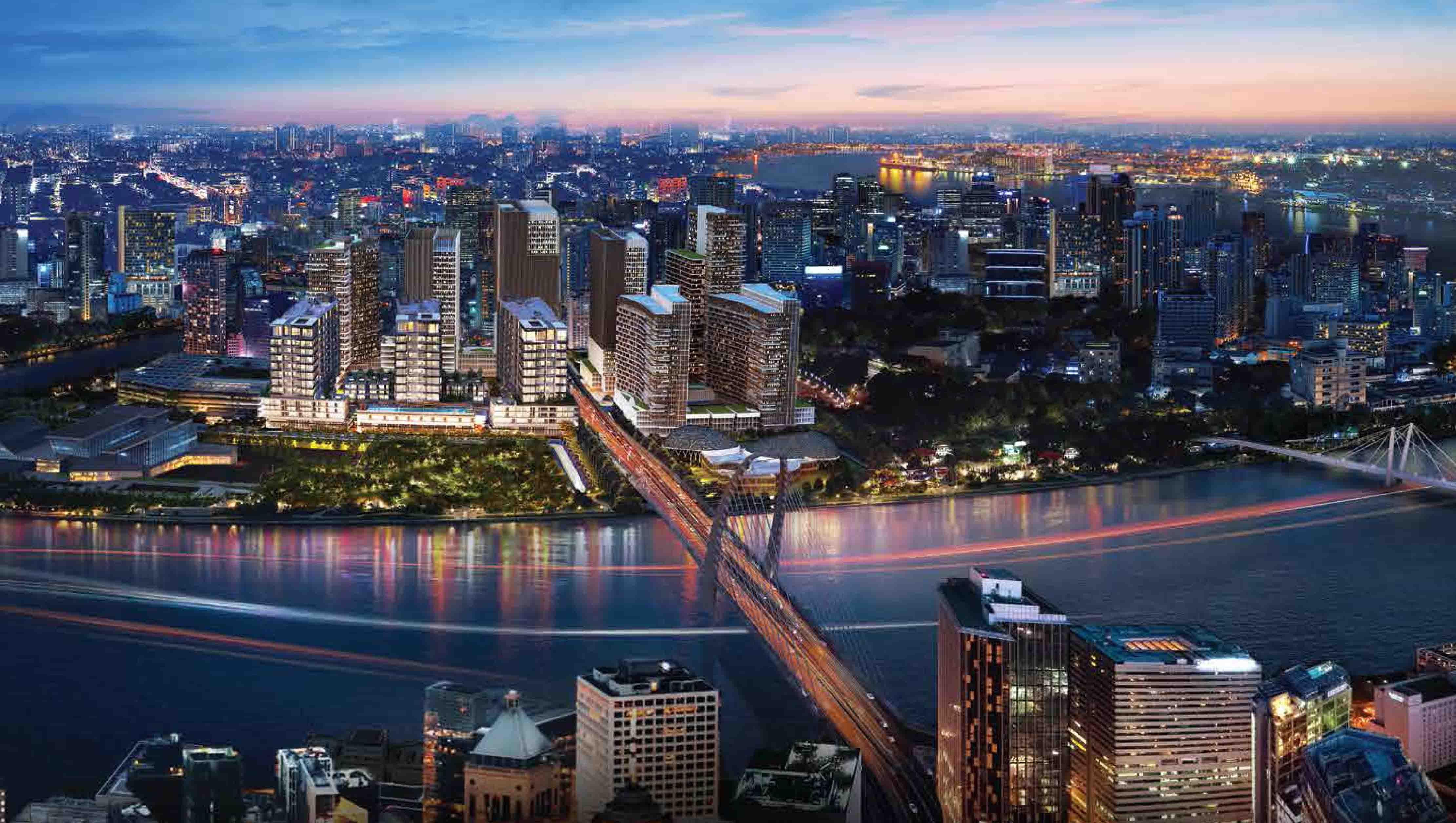 The metropole nhìn từ Cầu Thủ Thiêm 2