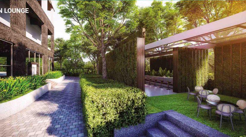 Sân vườn căn hộ ascent garden homes