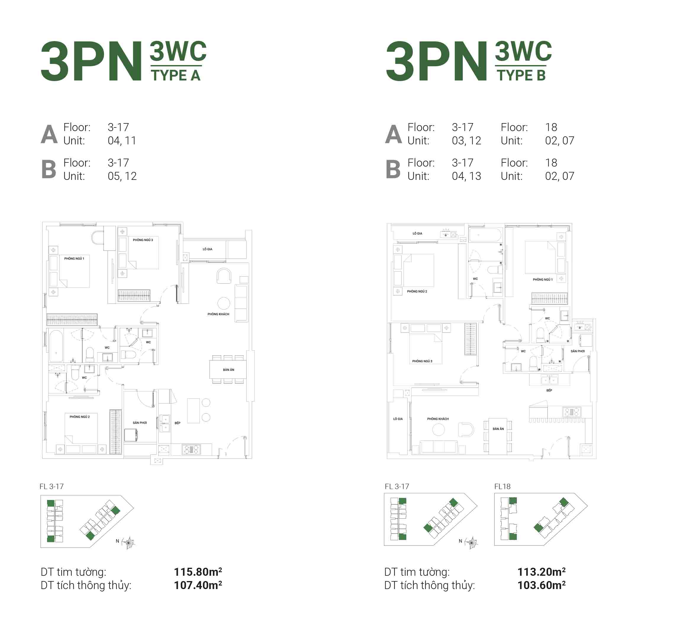 căn hộ 3 phòng ngủ ascent garden homes quận 7