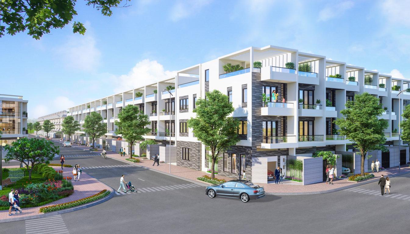 nhà phố 5x20 khu đô thị đông tăng long an lộc