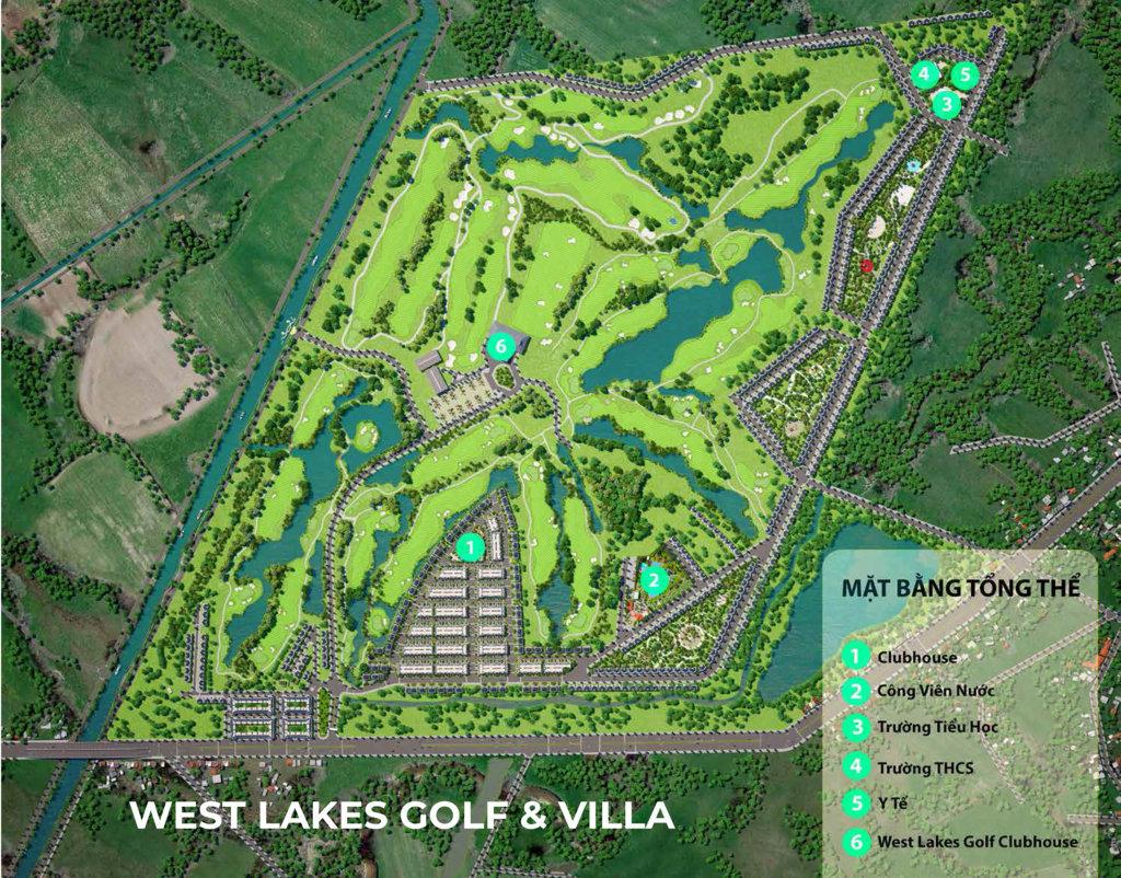 mat bang tien ich tong the west lakes golf & villas