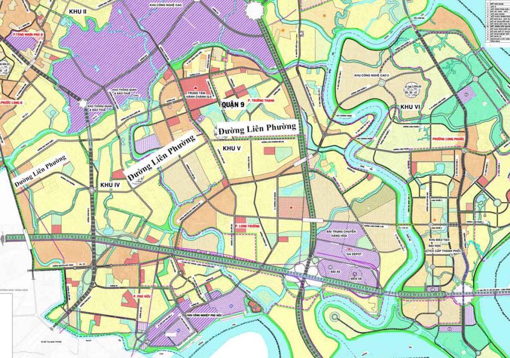 Bản đồ quy hoạch mở rộng đường Liên Phường Quận 9