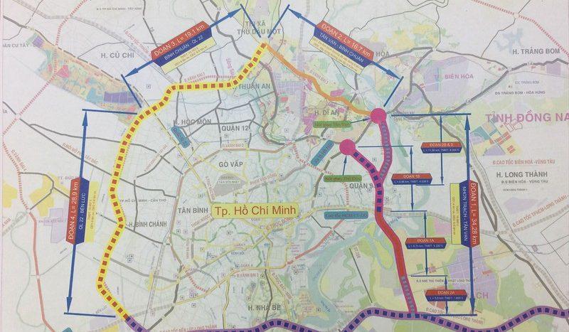 bản đồ quy hoach tổng thể đường vành đai 3 toàn tuyến