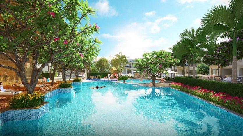 Hồ bơi dự án senturia q9 Central Point