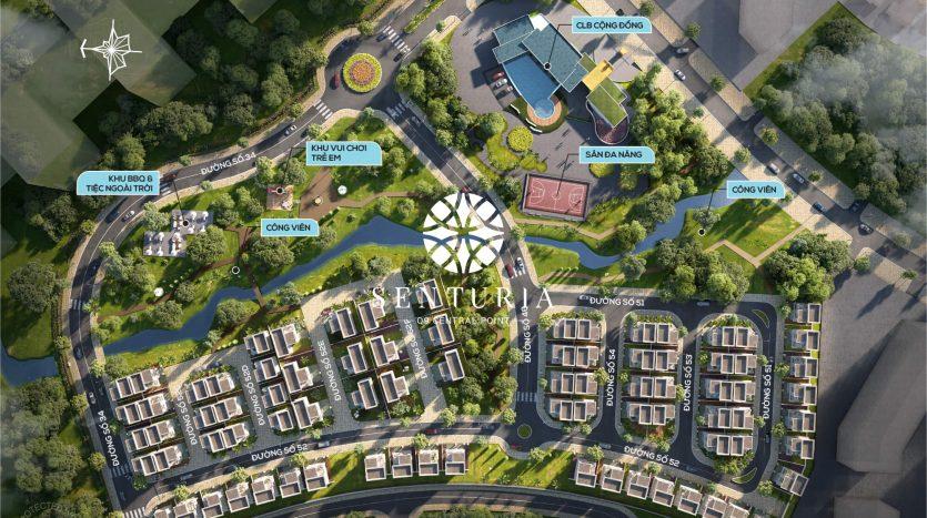 Mặt bằng tổng thể dự án Senturia q9 central point