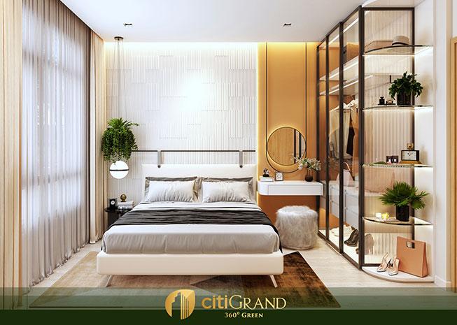 Phòng ngủ căn hộ city grand quận 2