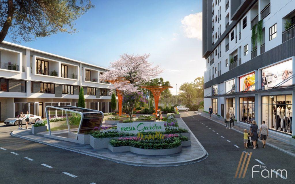 trục Shophouse dự án fresia garden quận 9