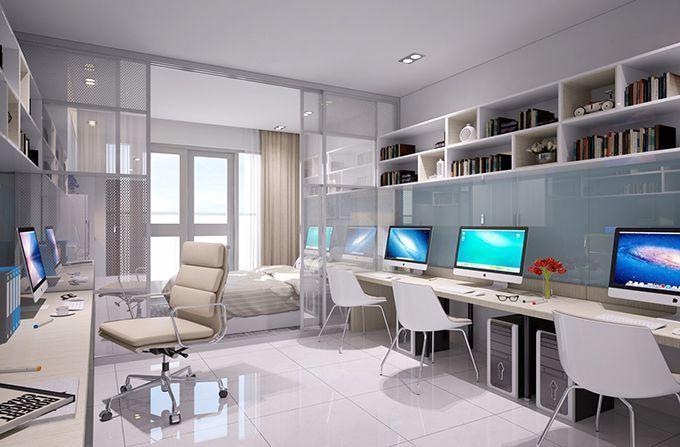 Thiết kế trong căn hộ văn phòng officetel