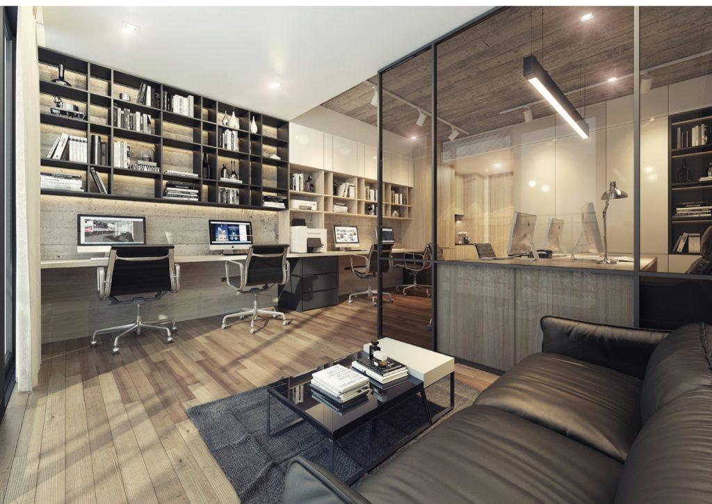 Thiết kế căn hộ văn phòng officetel