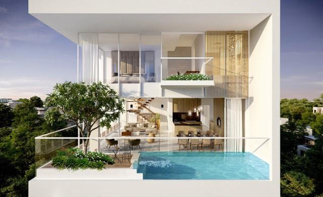 Thiết kế căn hộ sky villa