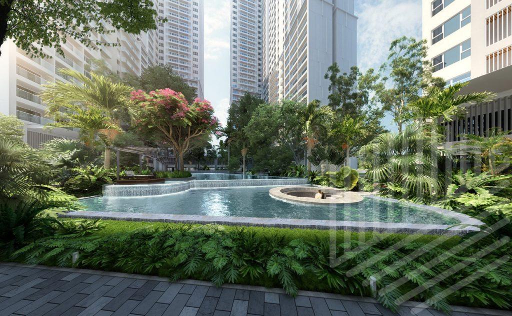 hồ bơi 2 dự án anderson park bình dương
