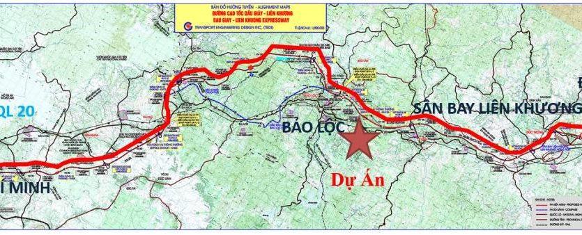 Bản đồ tuyến cao tốc dầu giây - liên khương đà lạt