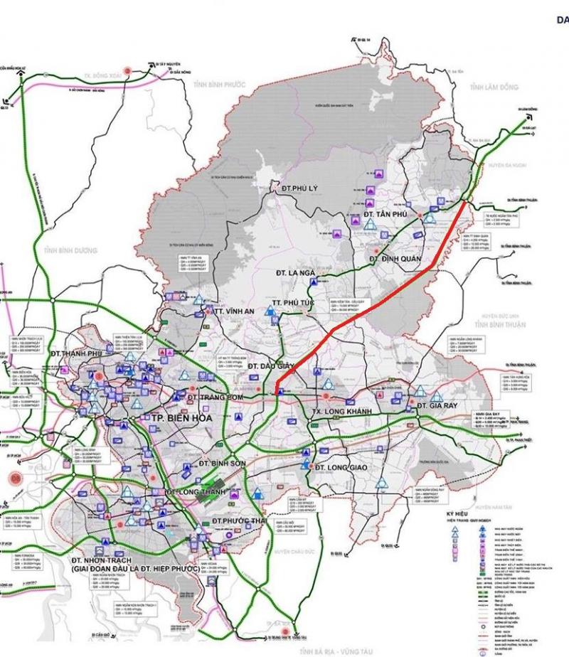 Cao tốc dầu giây liên khương giai đoạn 1 đến Tân Phú