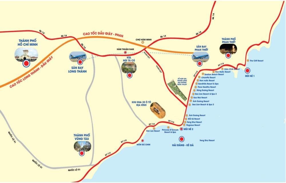 tuyến đường cao tốc phan thiết dầu giây tphcm