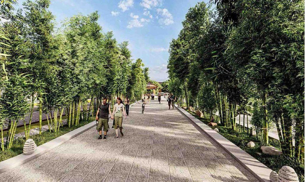 đường tre tại dự án takara residence bình dương