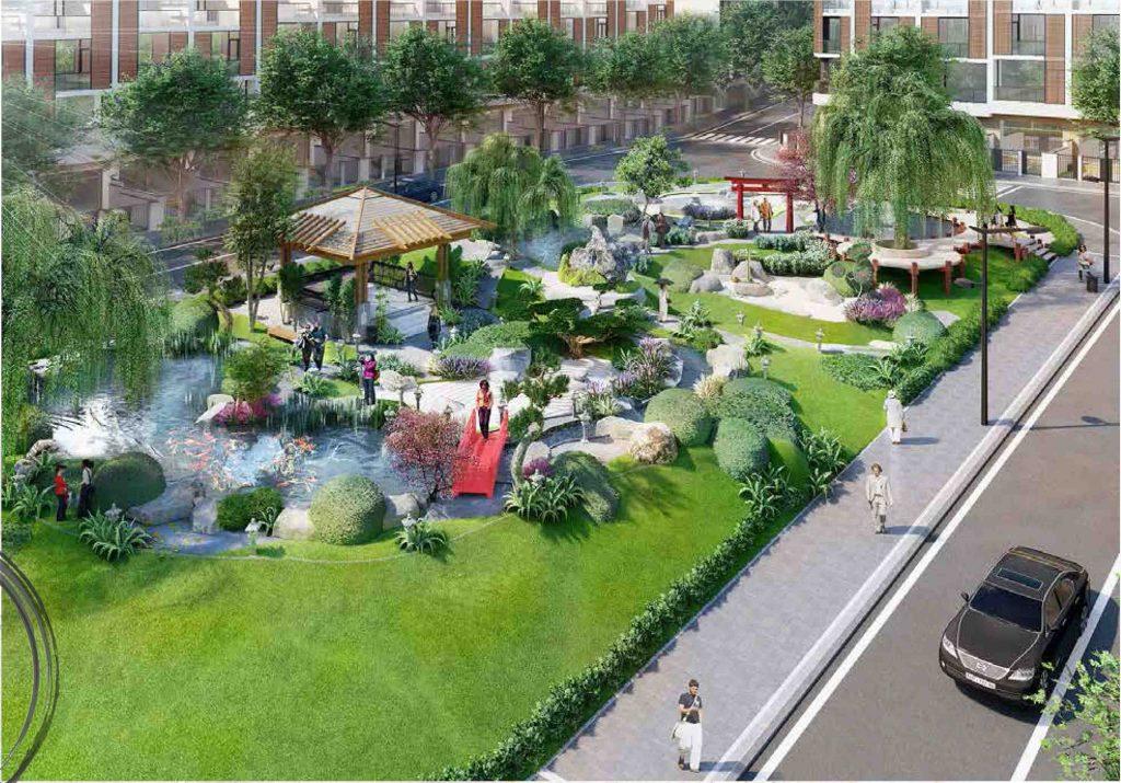 công viên tại dự án takara residence bình dương