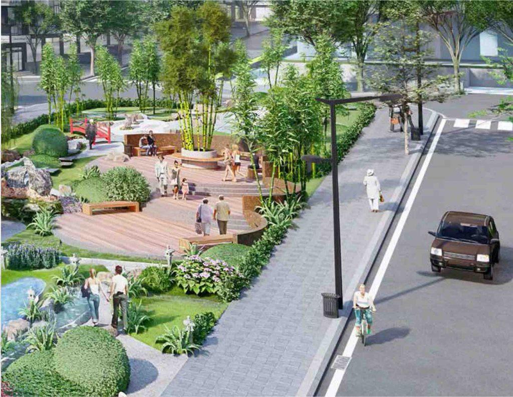 công viên 2 tại dự án takara residence bình dương
