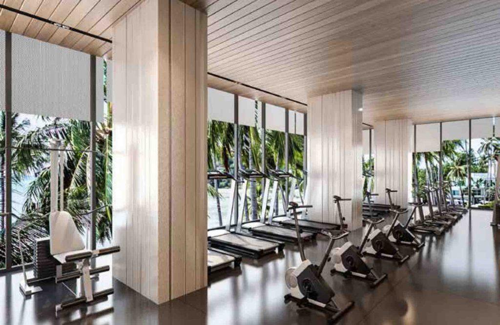 Phòng gym tại dự án takara residence bình dương