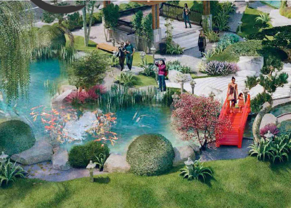 hồ cá koi tại dự án takara residence bình dương