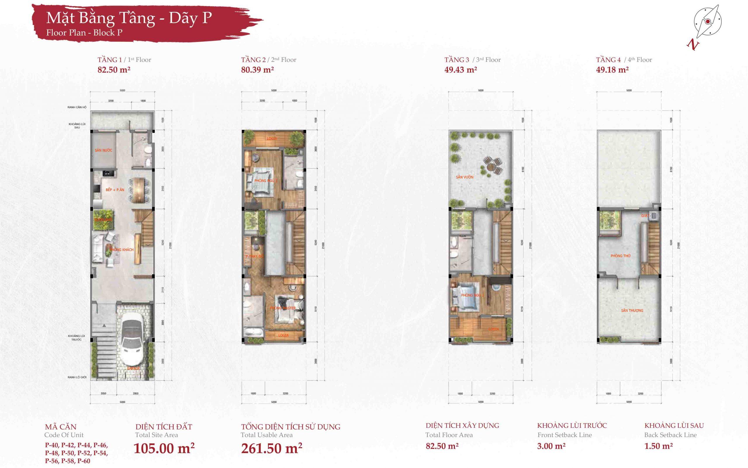 Mặt bằng thiết kế nhà phố takara residence bình dương