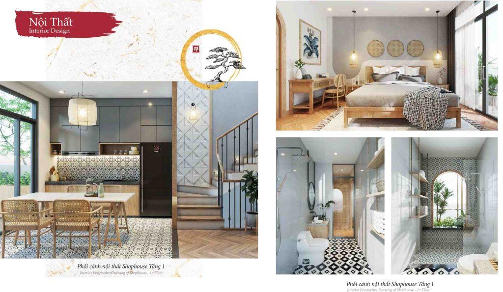 nội thất 3 shophouse takara residence