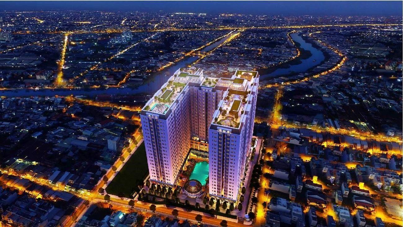 phoi canh tong the 2 du an dream home riverside quan 8