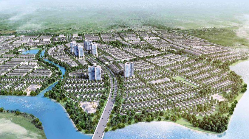 Phối cảnh tổng thể T&T millenia city Long Hậu