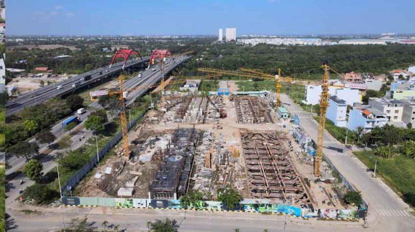 Tiến độ dự án căn hộ dream home riverside quận 8 5 2021 1