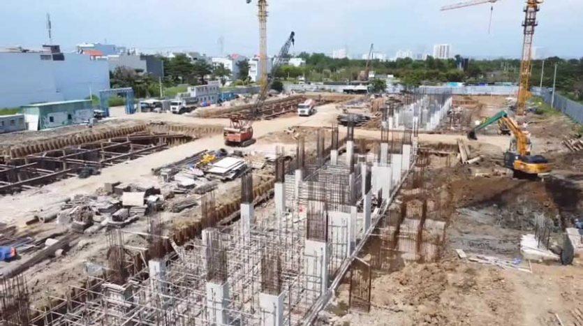 Tiến độ dự án căn hộ dream home riverside quận 8 5 2021 3